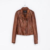 LEATHER JACKET - Trf - Blazers - Woman | ZARA United States