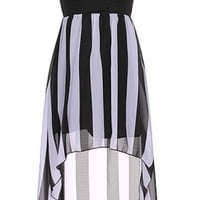 The Black & White High Low Dress - 29 N Under