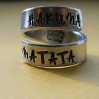 Hakuna Matata //lion he original  twist aluminum ring Version III