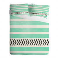 DENY Designs Home Accessories | Allyson Johnson Mint Stripes And Arrows Sheet Set