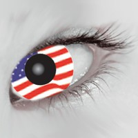 Mesmereyez USA Flag Coloured Contacts (Comfort)