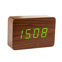 Brick Walnut Click Clock