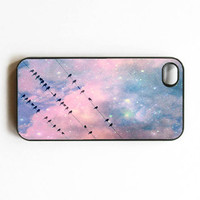 Iphone Case Night Birds Birds on Wire Birds by SSCphotographycases
