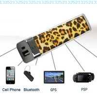 FOM Lip Gloss 2500mAh Universal Mobile USB Portable Power Bank Charger-Leopard:Amazon:Cell Phones & Accessories