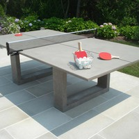 James De Wulf - Concrete Ping Pong & Dining Table