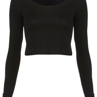 Long Sleeve Crop Tee - View All - Topshop USA
