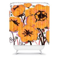 DENY Designs Home Accessories | Natasha Wescoat Anemone Gold Shower Curtain