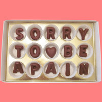 Sorry To Be A Pain Large Milk Chocolate Letters-Gift for Her Him-Made to Order