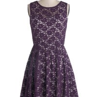 Topiary Artist Dress in Plum | Mod Retro Vintage Dresses | ModCloth.com