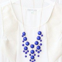 Bubble Necklace - Cobalt Blue