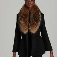 Alice + Olivia Jacket - Evanna Fur Trim | Bloomingdale's