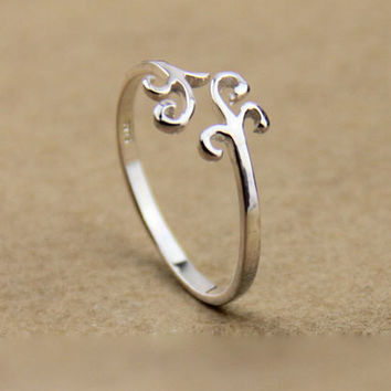 Fashion Nice Simple Silver Cloud Ring