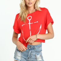 ANCHOR CROPPED TEE