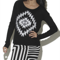Eyelash Aztec Jacquard Pullover Sweater | Shop Sweaters at Wet Seal