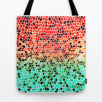 THINK MINTY ORANGE Tote Bag by catspaws