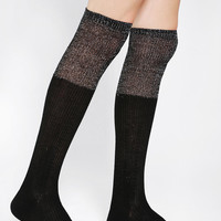 Urban Outfitters - Metallic Slouch-Cuff Over-The-Knee Sock