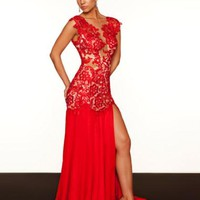 MacDuggal 61041R at Prom Dress Shop