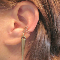 "Cartilage Ear Cuff ""Spiked"" No Piercing Helix Conch Tragus Color Choices"