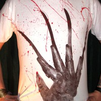 FREDDY KRUEGER: Bloody Glove T-Shirt sizes S-M-L-XL