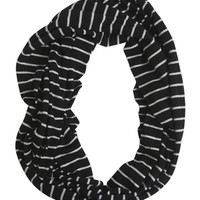 Jersey Striped Eternity Scarf | Shop Accessories at Wet Seal