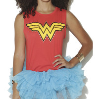 Studded Wonder Woman Muscle Tank | Shop Tops at Wet Seal