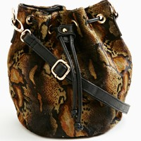 Nasty Gal Serpentine Ponyhair Bucket Bag