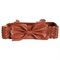 touch of sweetness bow belt in walnut - $12.99 : ShopRuche.com, Vintage Inspired Clothing, Affordable Clothes, Eco friendly Fashion
