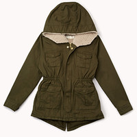 Hooded Faux Shearling Parka (Kids)