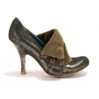 Irregular Choice | Womens | Heel | Flicker Flack (in dark silver)
