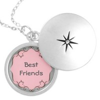 Pink and Gray Best Friends Necklace