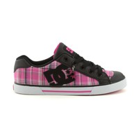 Womens DC Chelsea Skate Shoe, Black Pink Plaid, at Journeys Shoes