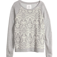 Marled sweatshirt - from H&M