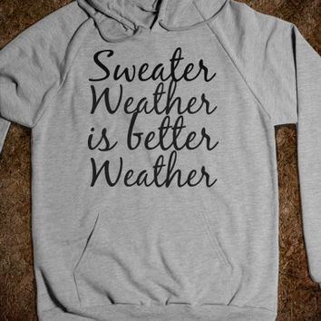 Sweater Weather.-Unisex Heather Grey Hoodie