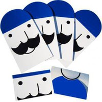 Poketo! Moustache Cards - 4 Pack