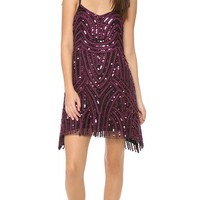 Beaded Mesh Cocktail Dress
