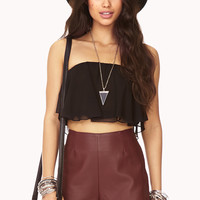 Flounced Chiffon Tube Top | FOREVER21 - 2000127885