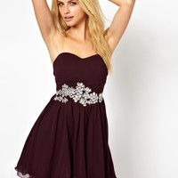 AX Paris | AX Paris Bandeau Prom Dress With Embellishment at ASOS