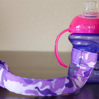 Purple Camo Sippy Strap with by ChunksBabyJunk