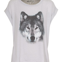 WILDFOX  Wolf Smoke Oversize T-shirt with print  - T-Shirts & Tanks