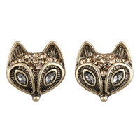 Embellished Fox stud earrings