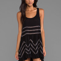Free People Lace and Voile Trapeze Dress in Black Combo from REVOLVEclothing.com