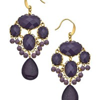 David Aubrey Gold and Jade Chandelier Earrings - Max & Chloe
