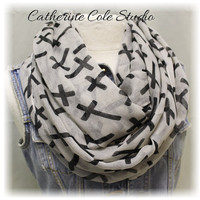 Cross scarf infinity scarf eternity scarves tube escarves christian scarf casual women scarves  ETERNAL FAITH Catherine Cole Studio SC16