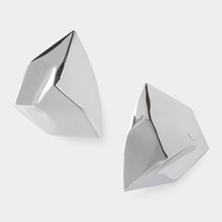 Rhodium Geometric Post Earring                                                                                                   | MoMA