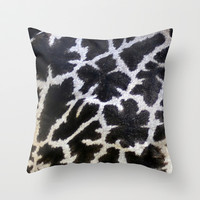 giraffe... close up Throw Pillow by Marianna Tankelevich