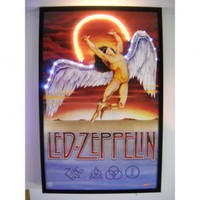 Neonetics Bar and Game Room Led Zeppelin Neon LED Poster - led-zeppelin-neon-led-poster - Decor