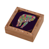 DENY Designs Home Accessories | Sharon Turner Painted Elephant Coaster Set