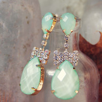 Mint & Bows Earrings