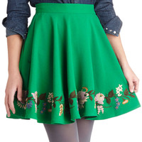 ModCloth Folk Art Short Ballerina Say a Little Prairie Skirt