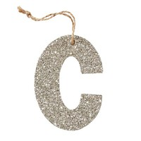 German Glitter Alphabet Ornaments | Pottery Barn